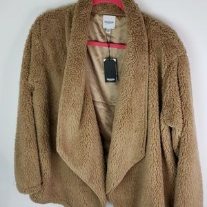 Kenzie teddy bear cardigan sz XL NWT